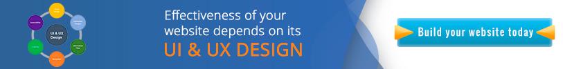Effectiveness of your website depends on its UI & UX Design