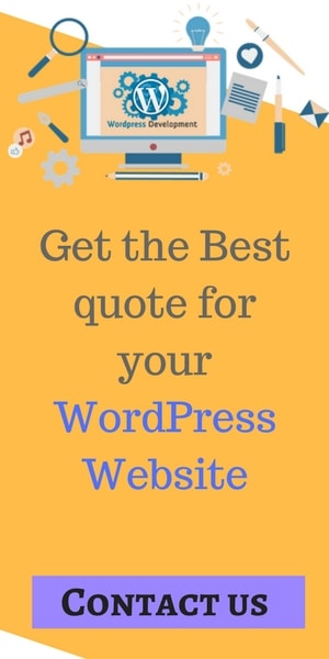 Get the Best quote for your WordPress Website