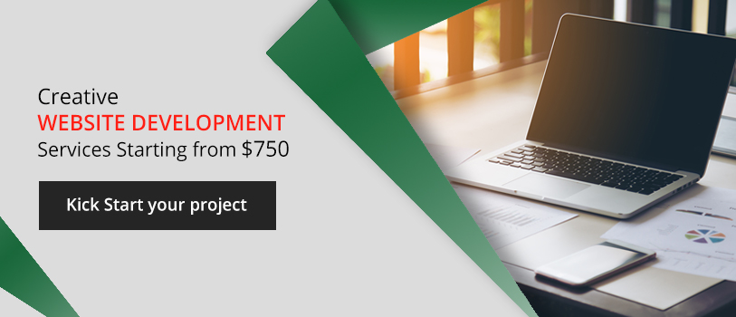 Creative website development services starting from $750